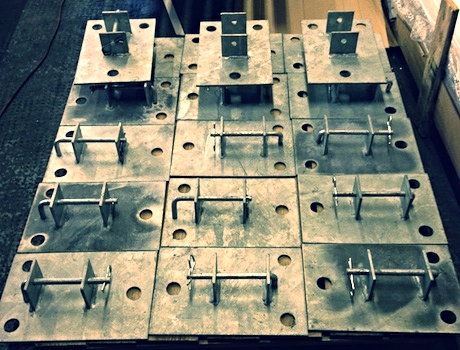 Shield's first ever batch of galvanised footplates (Item code: CF-FTPT2) in 2013.
