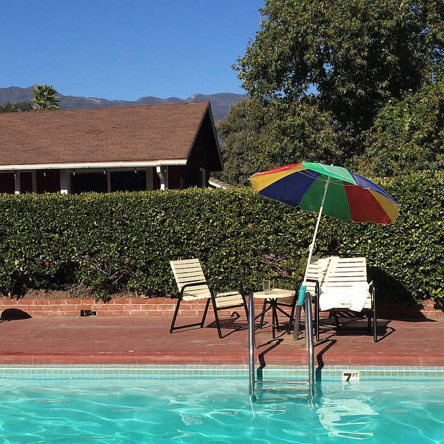 The Rancho Inn pool--perhaps my favorite place in Ojai/the world.