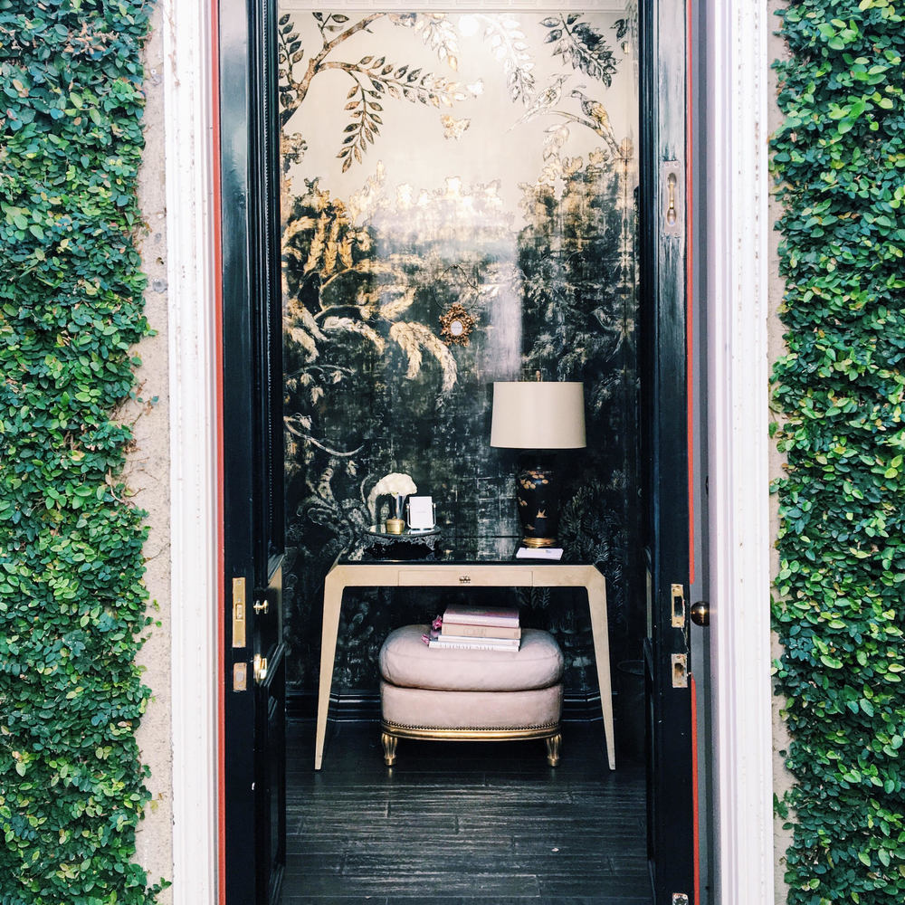 Tucked-away entrance to Violet Grey in West Hollywood.