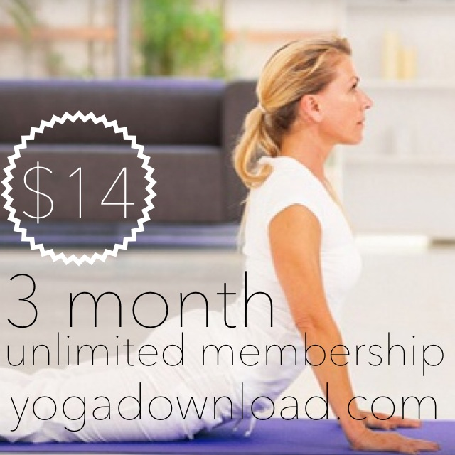 3 Month Unlimited Membership | Yoga Download