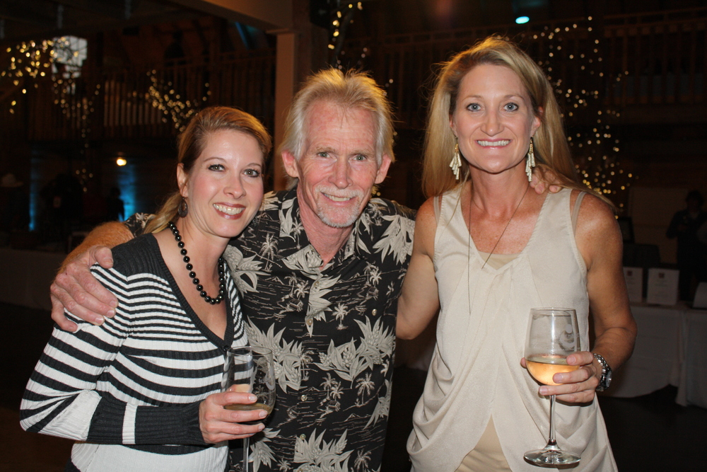Candra Davis (long-time supporter and volunteer), Joe Fennel (Board Member), and Michelle Fyfe (Board Member) at Winetopia 2013