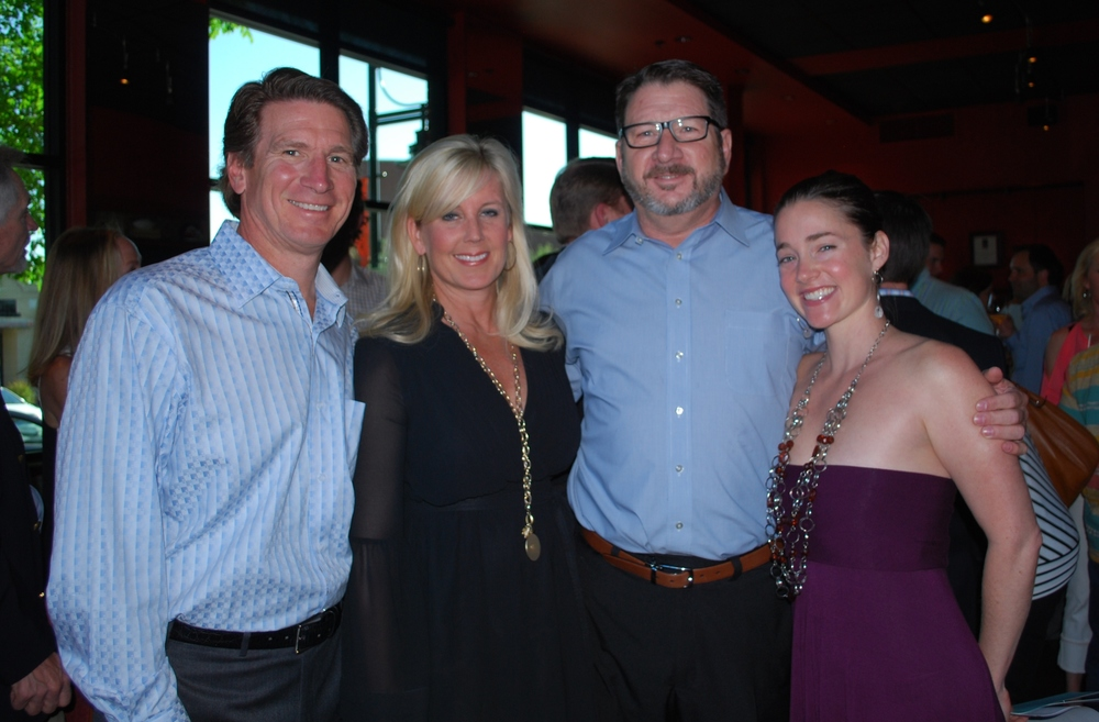 Dr. Scott Bailey (Chairman of our RH Medical Project), Leslie Bailey, Tim McFarland (Board Member) and I at our Wine Dinner 2013