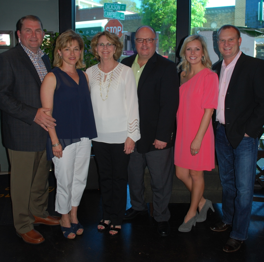 Randy & Miriam Smith (Board Member), Vicki & Bill Mathews (Longtime Supporters), Britney & Brandon Hurlbut (Board Member) at our Wine Dinner 2013 at Bordinos