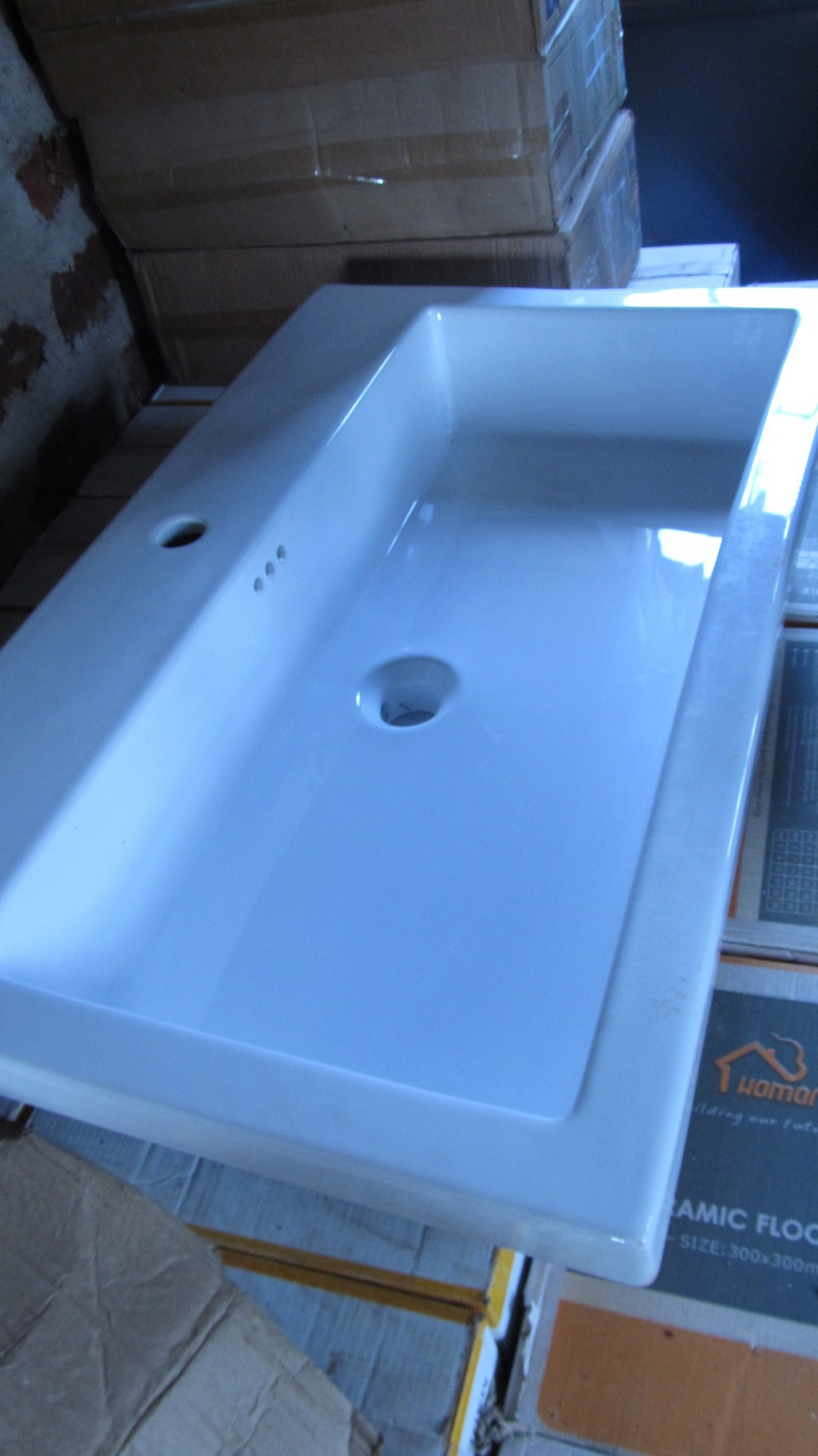 One of the sinks your donations bought!