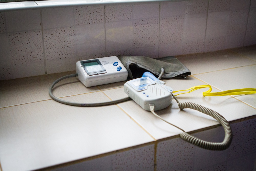 The heart Doppler machine donating by an Kenyan non-profit