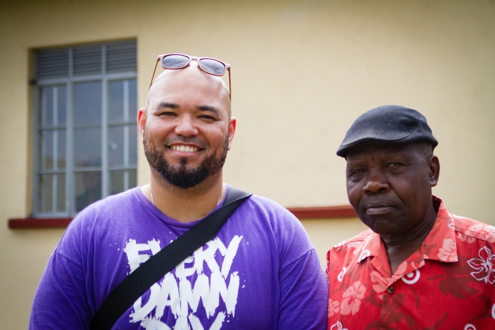 "Restore Humanity Board Member Herbert ""Boo"" Buchanan with the head of the Board of Directors for the local Clinic (Sirembe Dispensary) Peter Wanjawa."