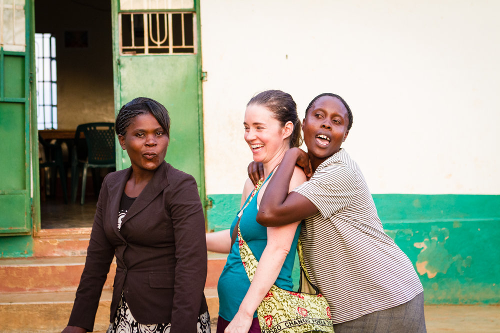 Jane (manager of our Children's Home), Sarah (Founder of Restore Humanity), Wilfrieda (House Mother)