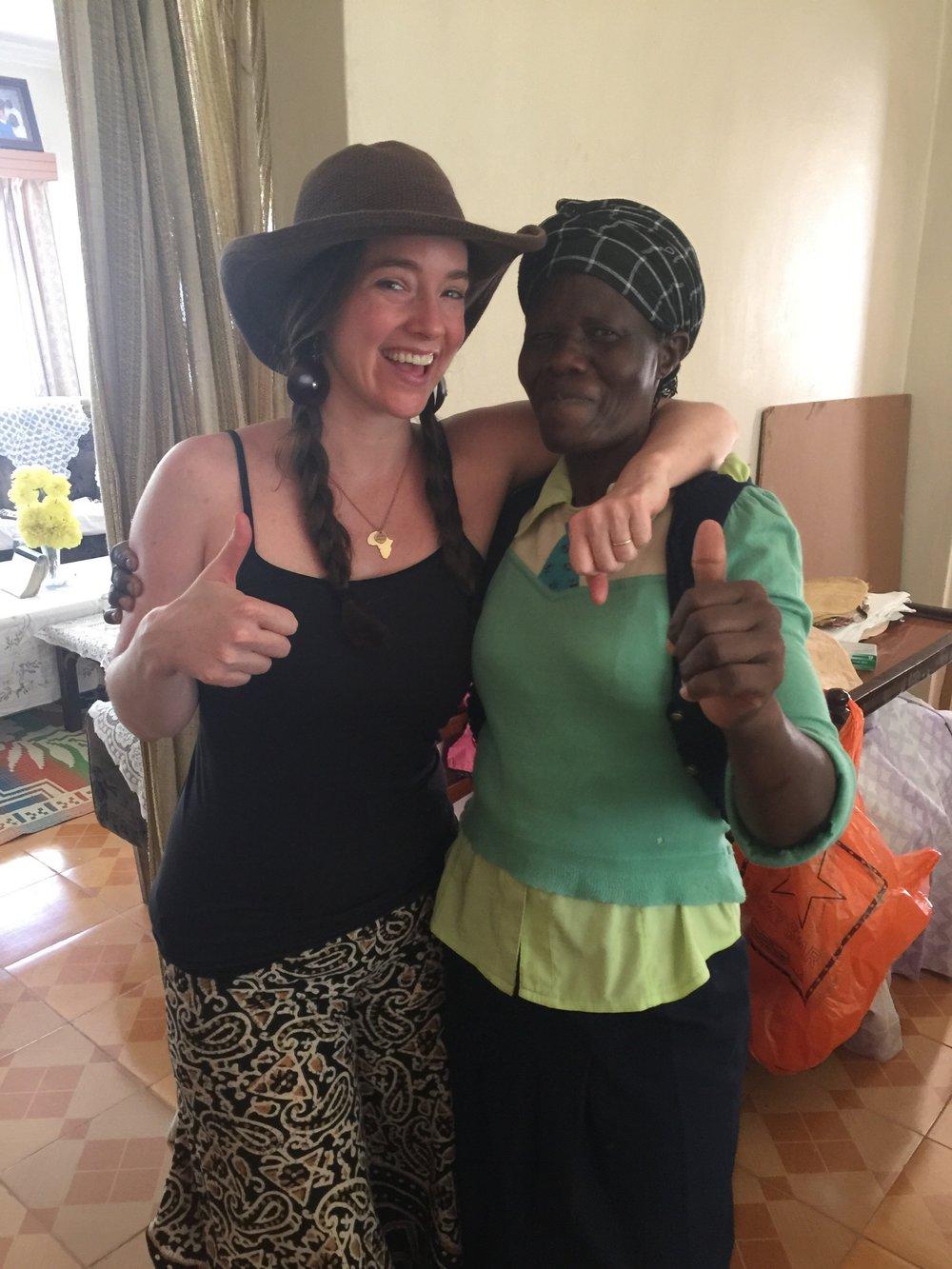 Sarah (Nyarsirembe) and Christine (Nyarkisumu), two of the women of Restore Humanity