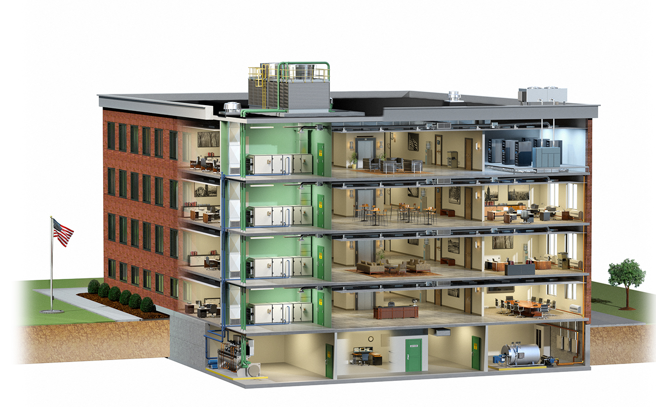 Architectural Building Systems Visualize Your Ideas 3d Hvac Drawing Images Cutaway Revealing