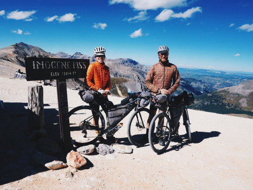 Sarah and Tom on Imogene Pass. Photo from their site.