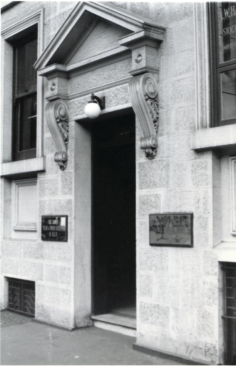 Stone entrance to 5 Elizabeth St 1956
