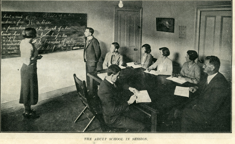 Adult Deaf Education class 1932