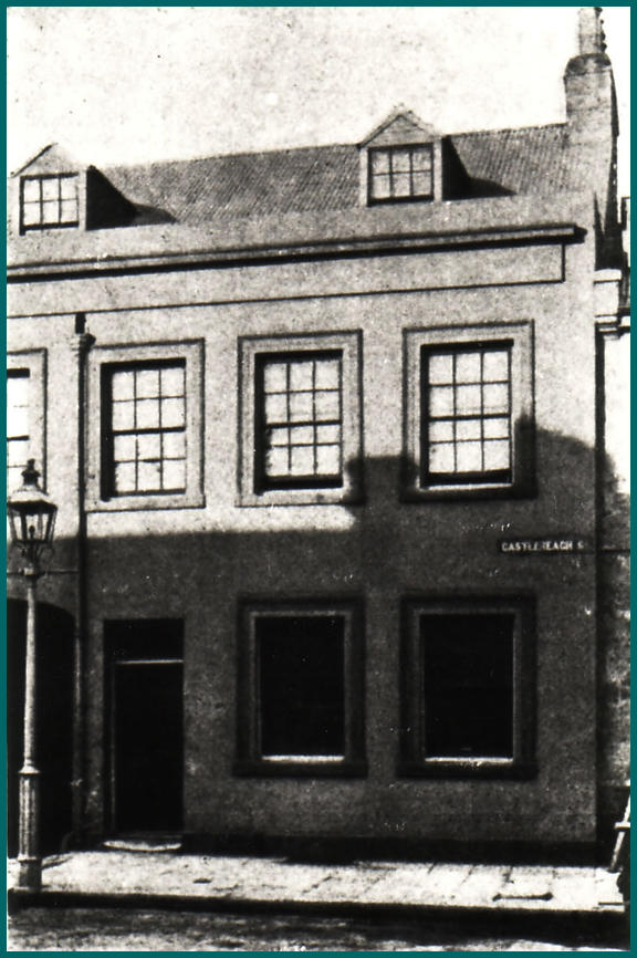 368 Castlereagh Street, the first Home of NSW Institution for the Deaf and Dumb .    Photo courtesy of the Royal Institute for Deaf and Blind Children.