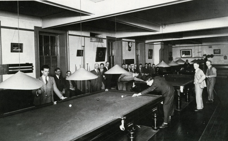 The Billiard Room in 1932