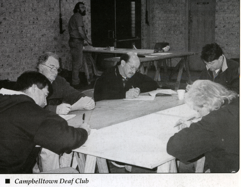 Campbelltown Deaf Club [photo in 1998 Hands Up NSW