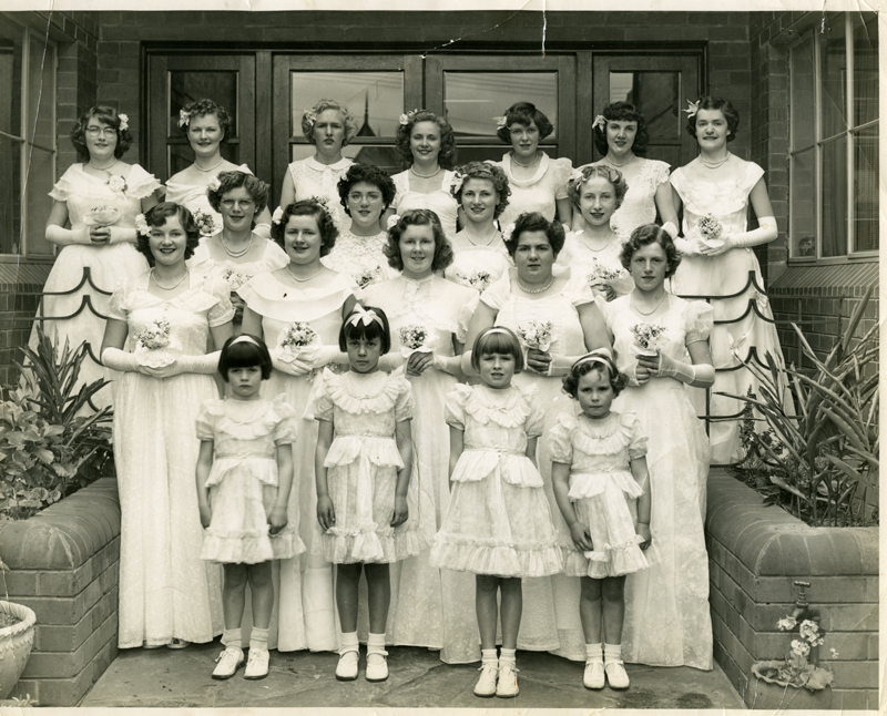Deaf Ladies Debutantees at Gordon-Davis House, Stanmore in 1951