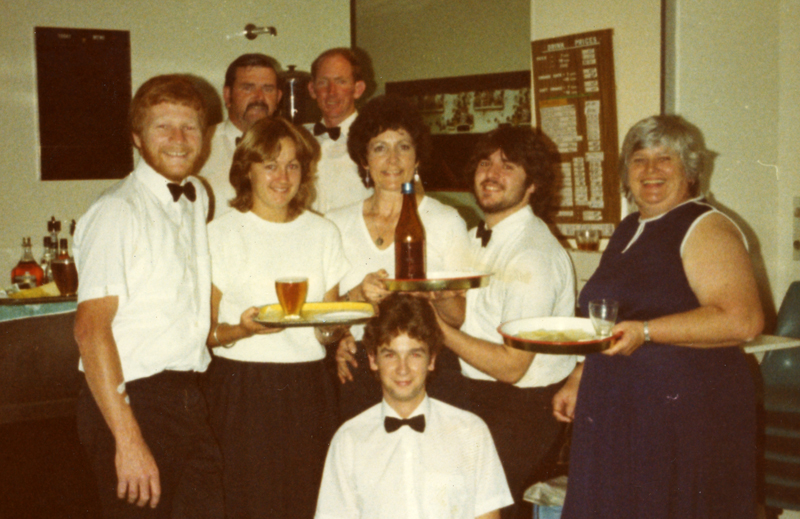 Stanmore Deaf Centre Bar workers 1982