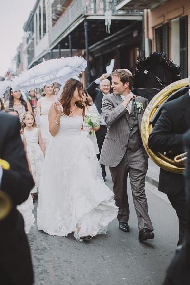 David and his wife Lauren at their wedding in New Orleans