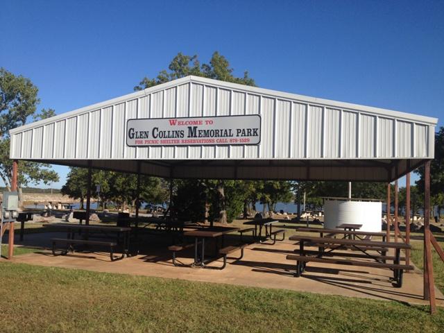 Glen Collins Memorial Park Pavilion - Shawnee ok.JPG