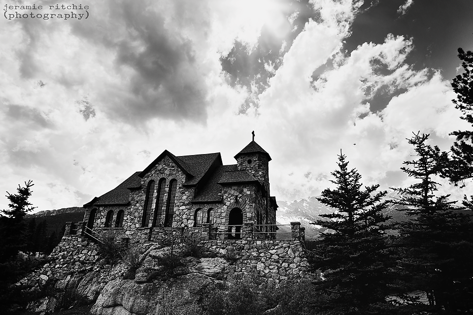 This STUNNING cathedral is located off a mountain pass in between Estes and Boulder.  The pope has been here, and I can see why.  I will look up the name again and include in in my next blog entry!