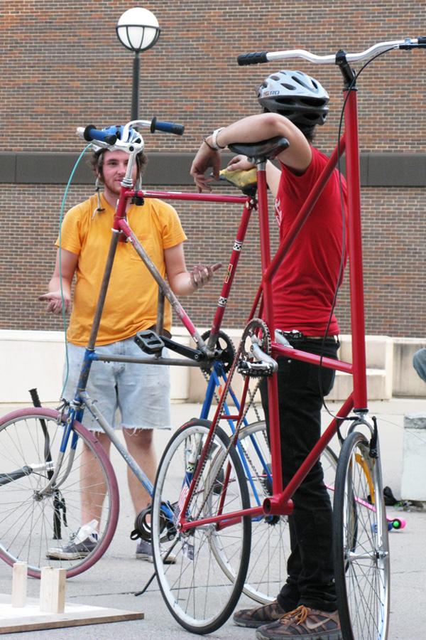 Jousting Tall Bikes