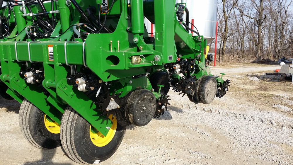 Dawn GFX Row Cleaners with Double Trashwheels on front rows and Single Trashwheel on rear rows