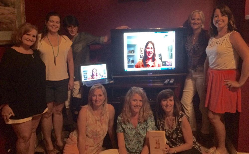 Book club in Macon, Georgia recieved a visit by Google Hangout. It was great fun.