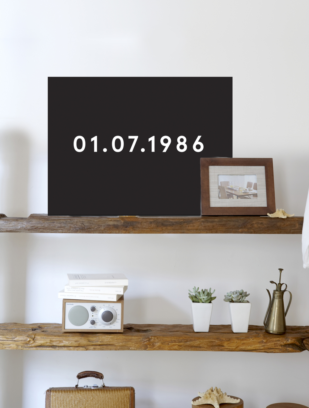 Yesterday Series — 10 x 8 on birch plywood, customizable date.