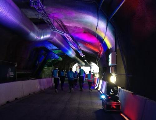 Ljuset i slutet av tunneln, bokstavligt talat.