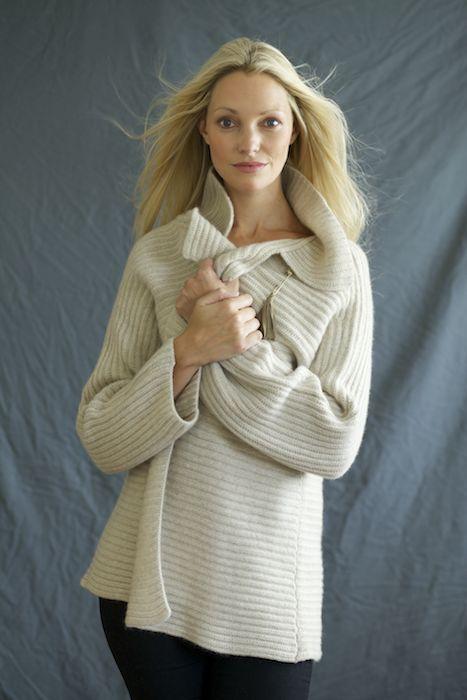 Ribbed heavy-knit jacket