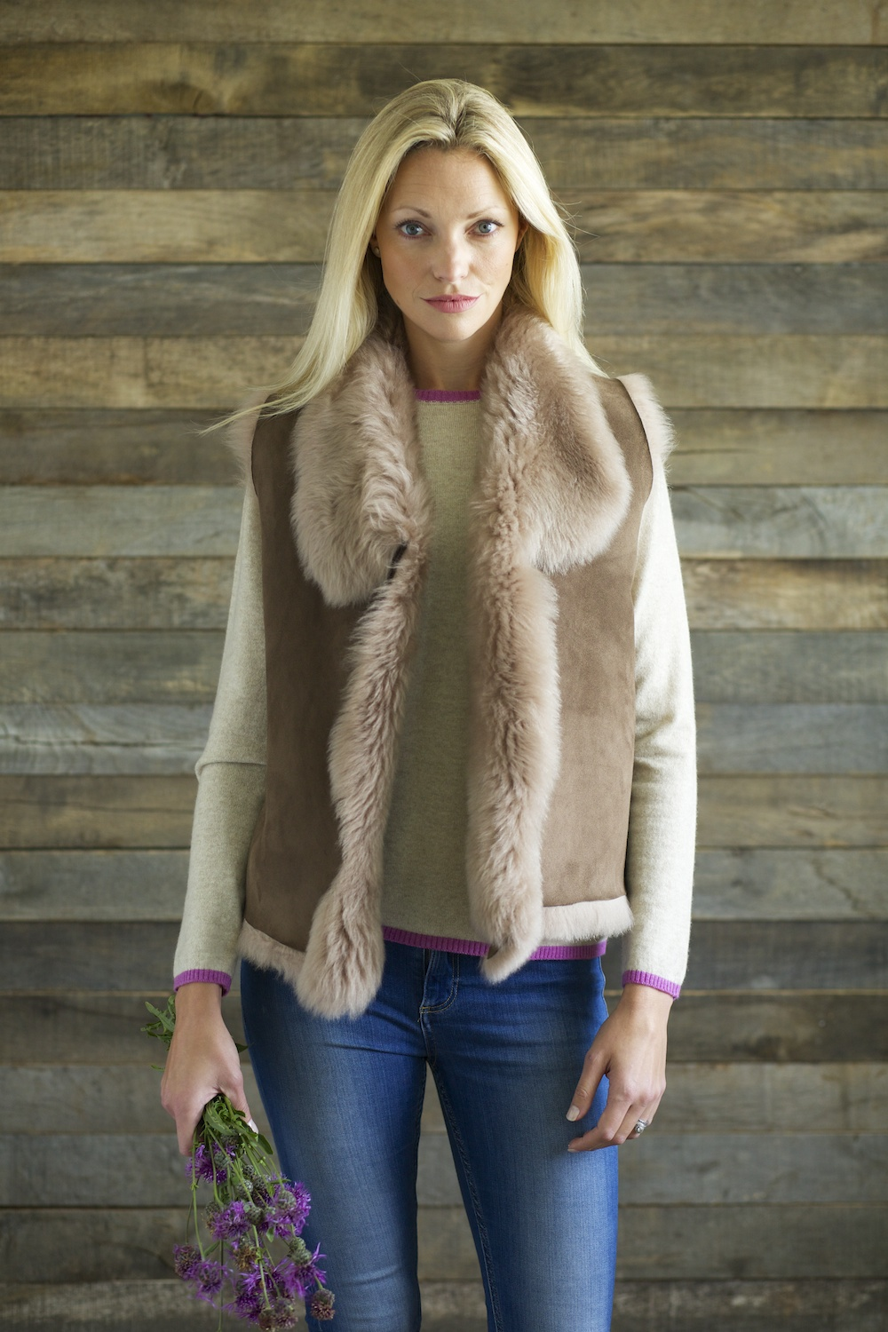 Toscana Gilet with Knitted Back