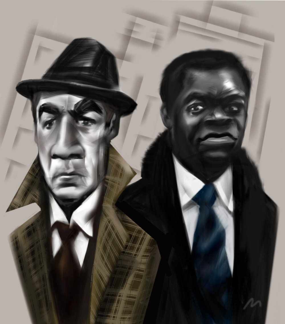 "Anthony Quinn & Yaphet Kotto, ""Across 110th Street""   Two New York City cops go after amateur crooks who are trying to rip off the Mafia and start a gang war.  With a great soundtrack and live smokey nightclub performance by Curtis Mayfield. Damn!"