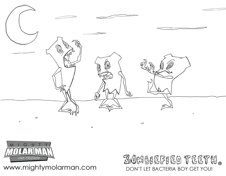 Mighty MolarMan & Friends Coloring Pages - Packet 1 - Page 3