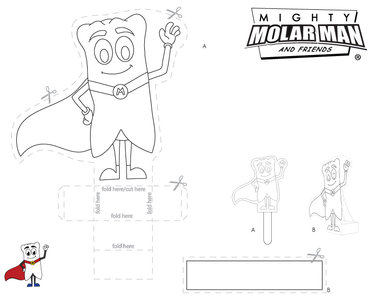 Mighty MolarMan & Friends Coloring Pages - Packet 1 - Page 5