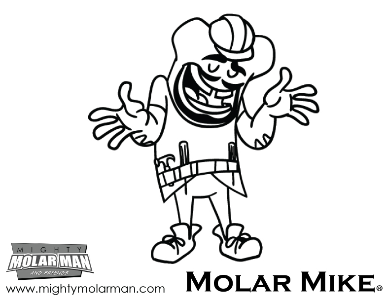 Mighty MolarMan & Friends® Coloring Pages - Packet 2 - Page 5