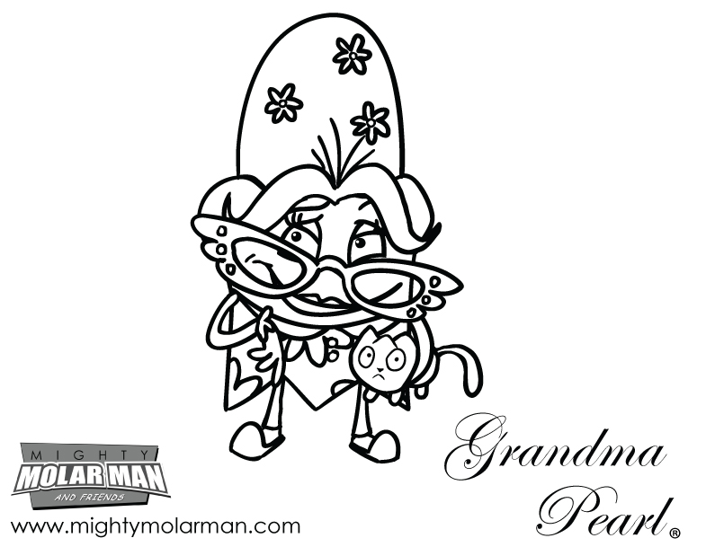 Mighty MolarMan & Friends® Coloring Pages - Packet 3 - Page 2