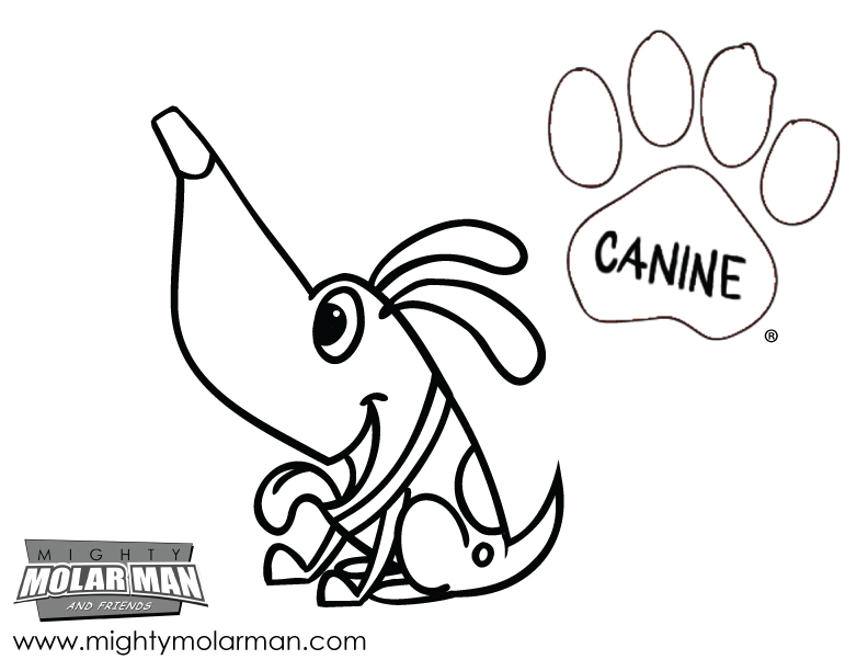 Mighty MolarMan & Friends® Coloring Pages - Packet 3 - Page 3
