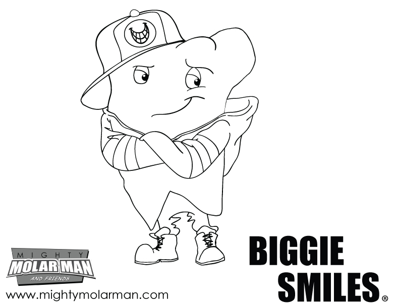 Mighty MolarMan & Friends® Coloring Pages - Packet 4 - Page 3