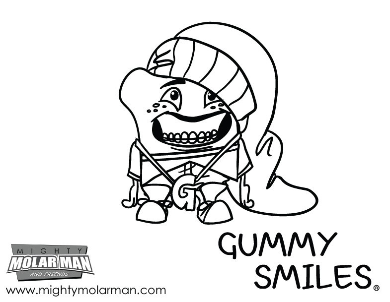 Mighty MolarMan & Friends® Coloring Pages - Packet 4 - Page 4