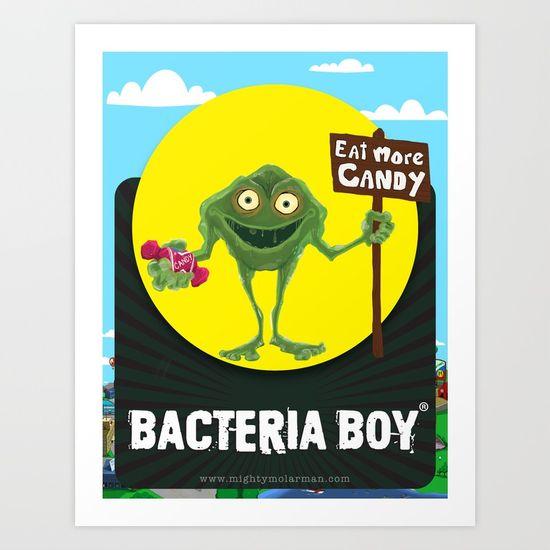 Bacteria Boy Prints