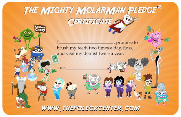 - Mighty MolarMan Pledge Certificate