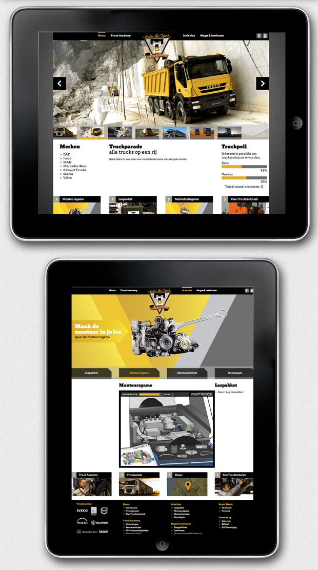 Webdesign for Bovag Trucks