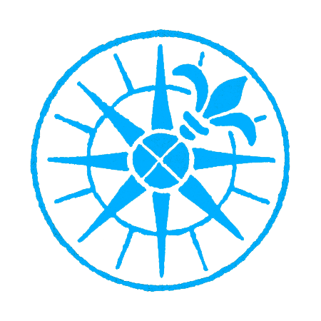 The compass rose of The Stinehour Press. Visit our page related to the history and endeavors of  The Stinehour Press and the Meriden Gravure Company .