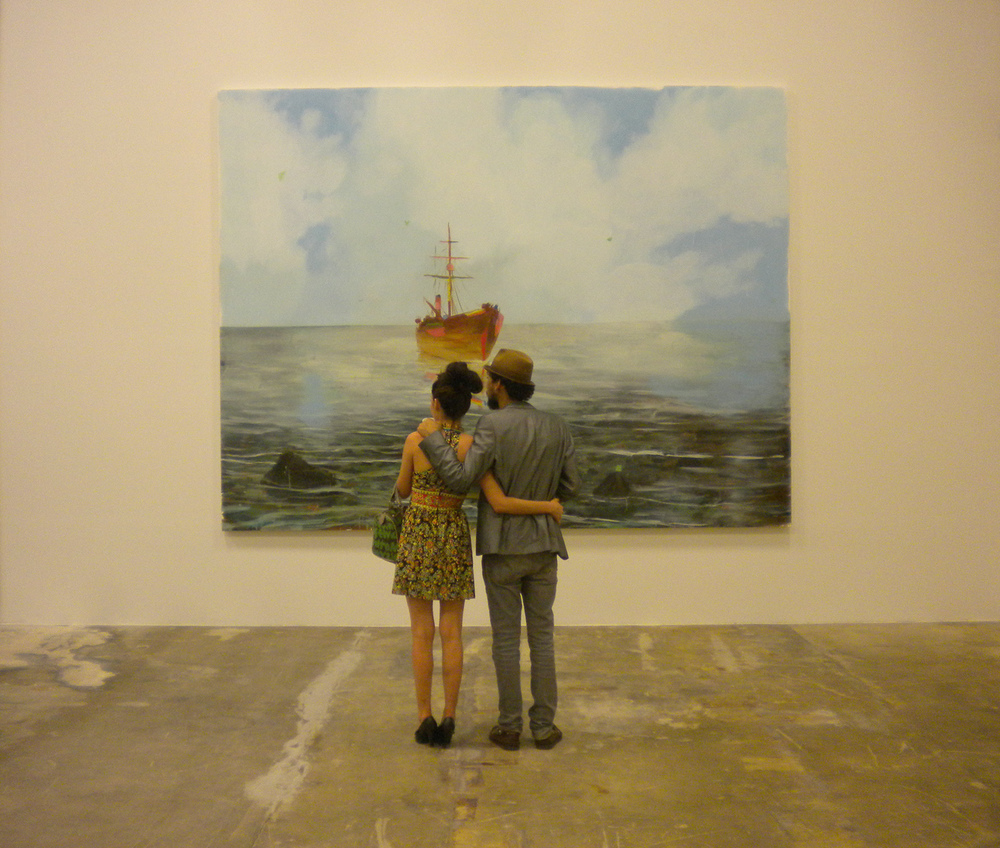 Painting Couple   Art Miami Basel, 2011