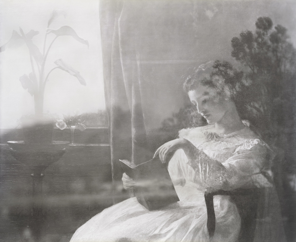 A Young Girl Reading, The Summer Storm, St. Johnsbury Athenaeum, 2012