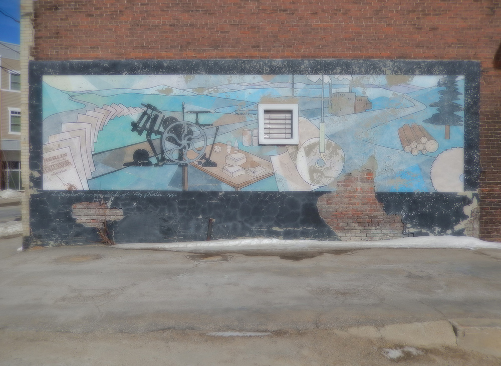 Mural at Smith and Town Printers, Berlin, New Hampshire