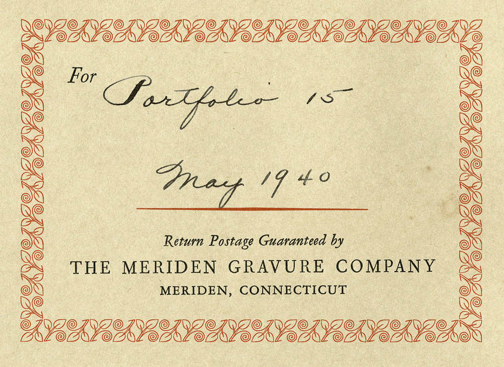 Meriden Gravure, decorative border