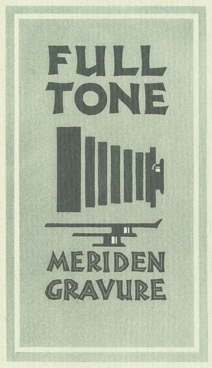 Logo used by the Meriden Gravure Company in the 1930s.