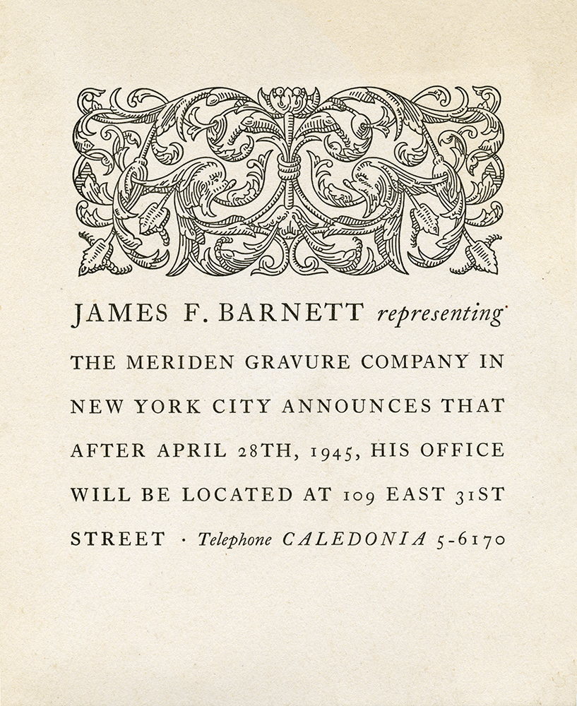 Jim Barnett, a beloved Irishman, represented the company in New York City for over forty years.