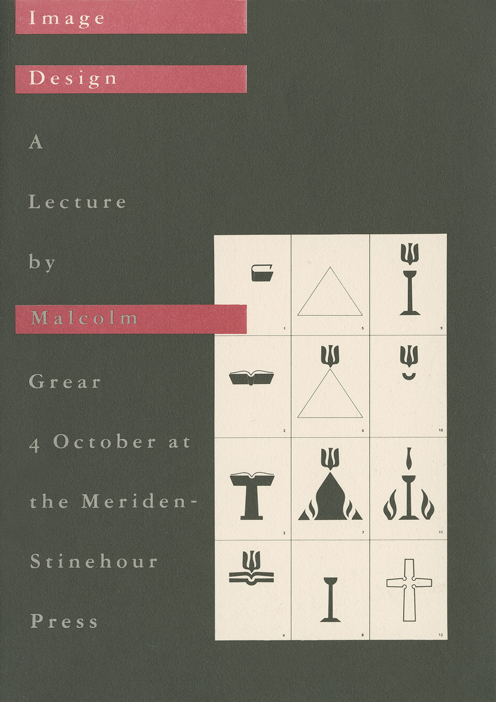 Image Design , A lecture by Malcom Grear